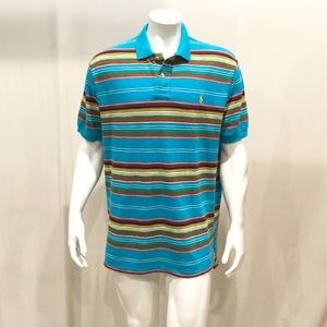 Ralph Lauren Men's Multicolor Striped Polo Shirt